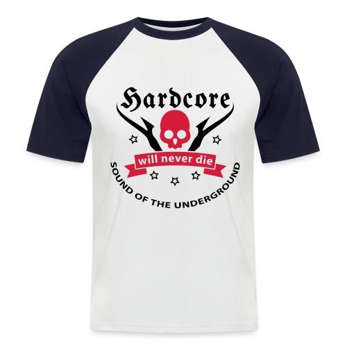 Men Shirt Hardcore (red) - Men's Baseball T-Shirt