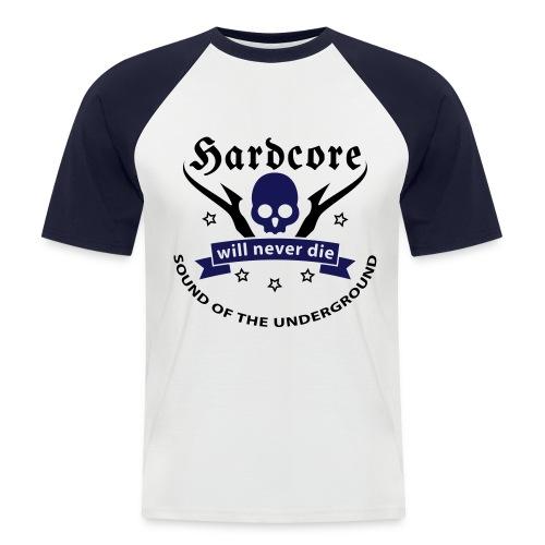 Men Shirt Hardcore (navy) - Men's Baseball T-Shirt