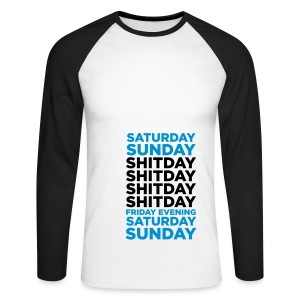 Weekday Evalutaion on Raglan Long Sleeve - Men's Long Sleeve Baseball T-Shirt