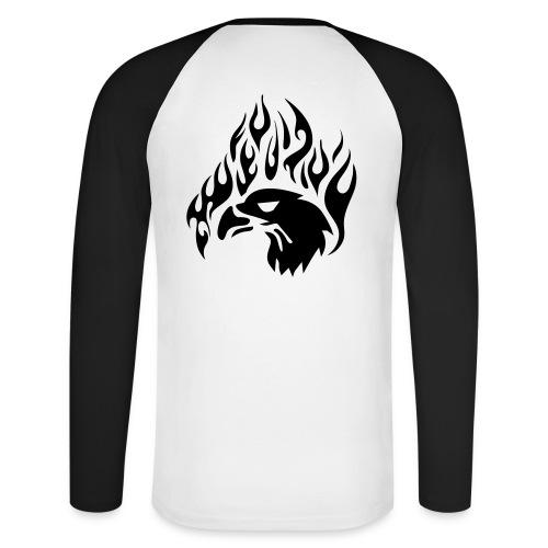 eagle - Langærmet herre-baseballshirt