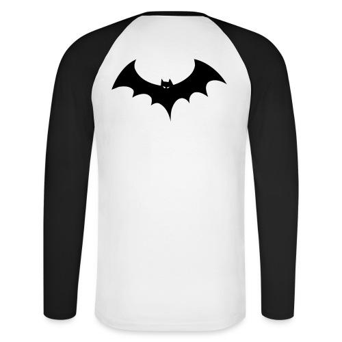 Bat - Langærmet herre-baseballshirt