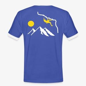 Überhang - blau (men)  - Männer Kontrast-T-Shirt