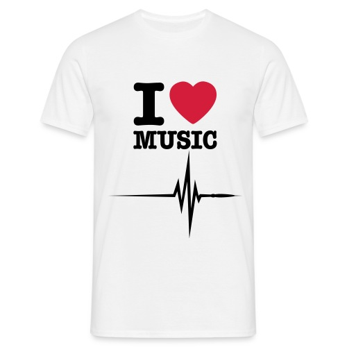 I love music - T-shirt Homme
