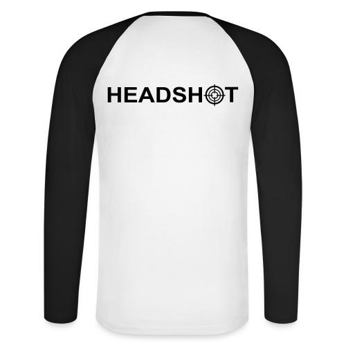 Shirt Headshot - Männer Baseballshirt langarm