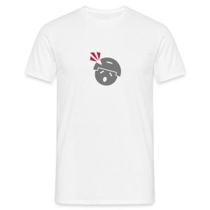 Headshot Noob M.A.G. in Grau/Rot - Männer T-Shirt