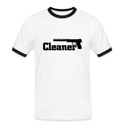 Cleaner - Männer Kontrast-T-Shirt
