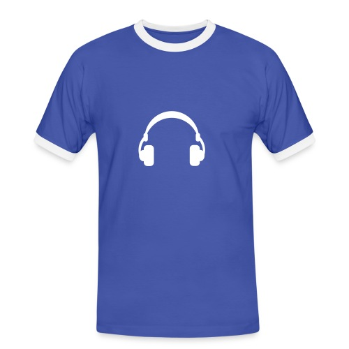 DJ - Männer Kontrast-T-Shirt