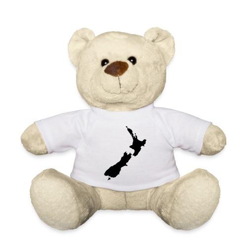 Teddy - New Zealand, Map, Inside, Black Neuseeland, Karte, Innen, Schwarz Teddy
