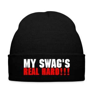 My Swag's real hard hat white and red - Winter Hat