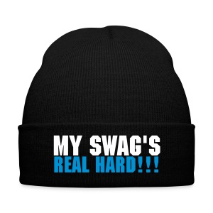 My Swag's real hard hat white and blue - Winter Hat