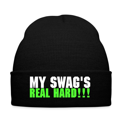 My Swag's real hard hat white and green - Winter Hat