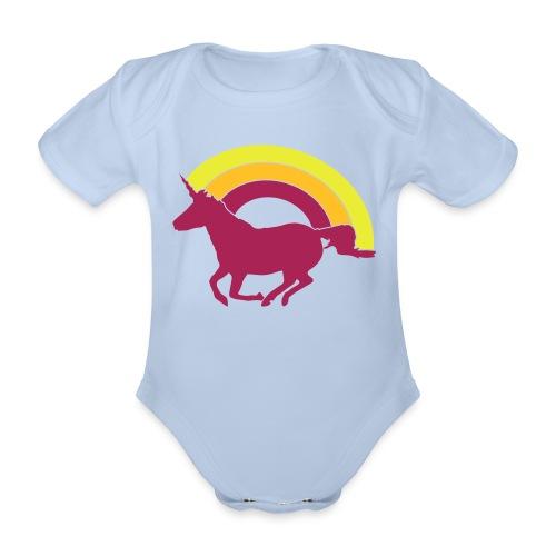 Unicorno - Ekologisk kortärmad babybody