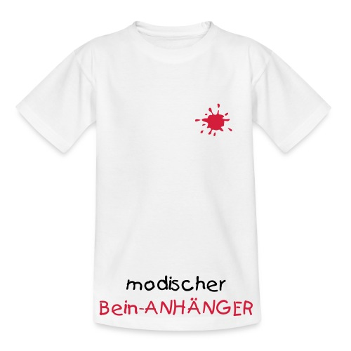 Kinder-Shirt Modischer Bein-Anhänger - Teenager T-Shirt