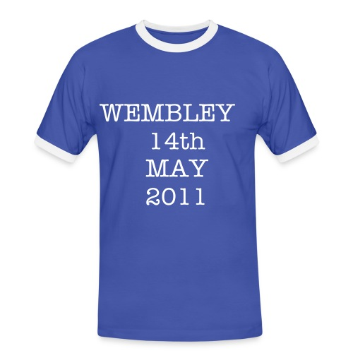 Manchester City Wembley 2011 - Men's Ringer Shirt