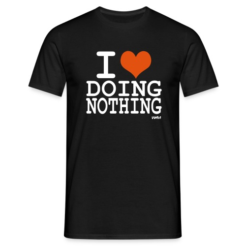 i love doing nothing_black_men - Men's T-Shirt