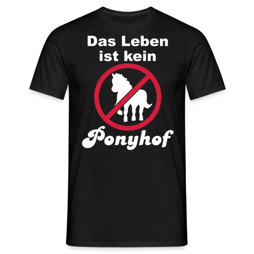 kein ponyhof_black_men - Men's T-Shirt