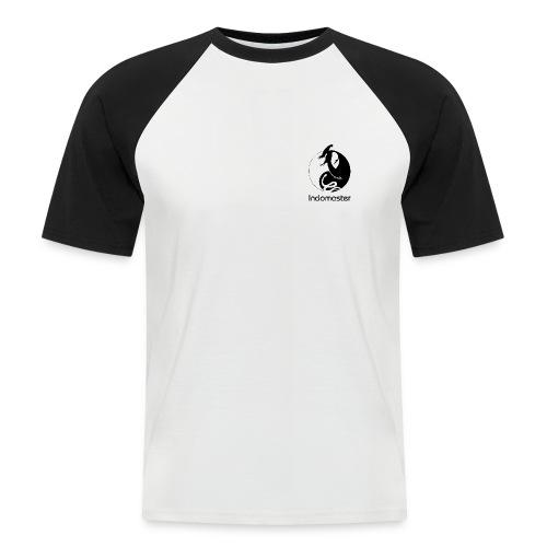Indomaster Original Short  Black Men Back Logo - Men's Baseball T-Shirt