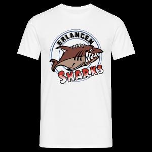 Logo auf weißem T-Shirt (m) - Männer T-Shirt