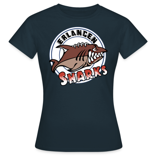 Erlangen Sharks Color T-Shirt (w, navy) - Frauen T-Shirt