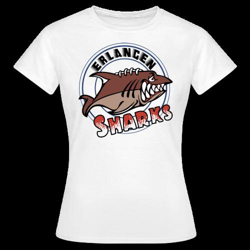Erlangen Sharks Color T-Shirt (w, weiß) - Frauen T-Shirt