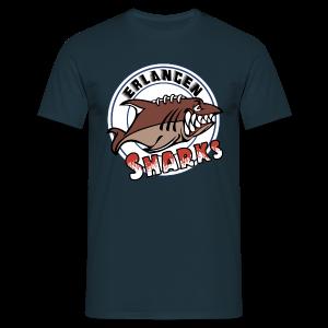 Logo auf navy T-Shirt (m) - Männer T-Shirt
