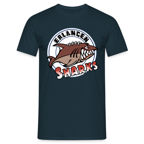Erlangen Sharks Color T-Shirt (m, navy) - Männer T-Shirt