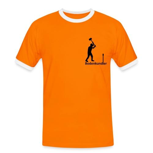 T-Shirt Bodenkundler, Pürckhauer, Brust, black - Männer Kontrast-T-Shirt