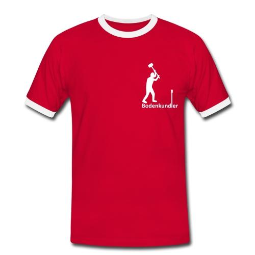 T-Shirt Bodenkundler, Pürckhauer, Brust, white - Männer Kontrast-T-Shirt