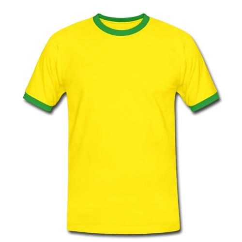 Voetbal Fan-Shirt. - Mannen contrastshirt