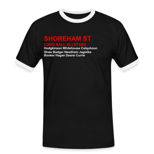Shoreham St Shirt - Black (Sheff Utd) - Men's Ringer Shirt