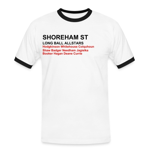 Shoreham St Shirt - White (Sheff Utd) - Men's Ringer Shirt