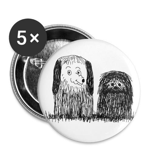 badge chiens - Lot de 5 moyens badges (32 mm)