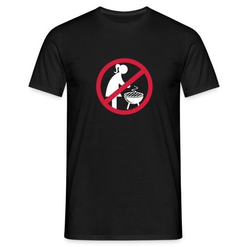 Frauen können nicht grillen, Frauen an den Herd ;-) (Grillen Shirt) - Männer T-Shirt