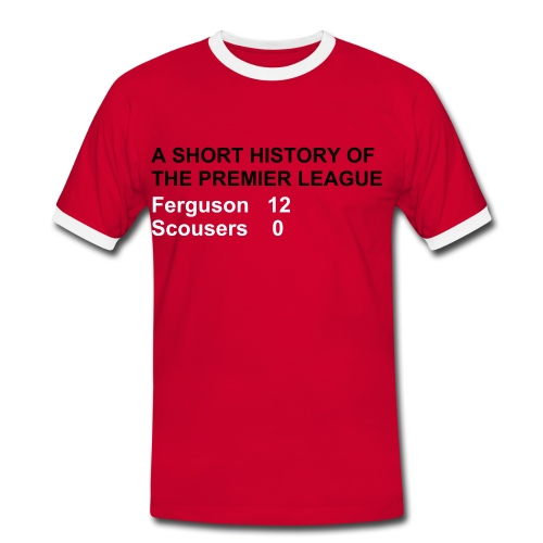 Ferguson 12 - Red (Man Utd) - Men's Ringer Shirt
