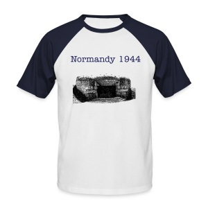 Shirt Normandy 1944! - Männer Baseball-T-Shirt