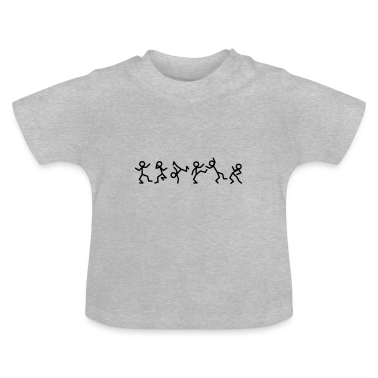 Dancing stick figure T-shirt neonato
