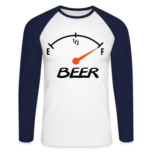 Full Beer - Männer Baseballshirt langarm