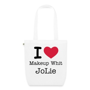 i love Makeup whit JoLie - EarthPositive Tote Bag