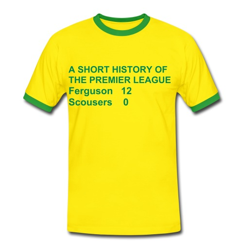 Ferguson 12 - Green & Gold (Man Utd) - Men's Ringer Shirt