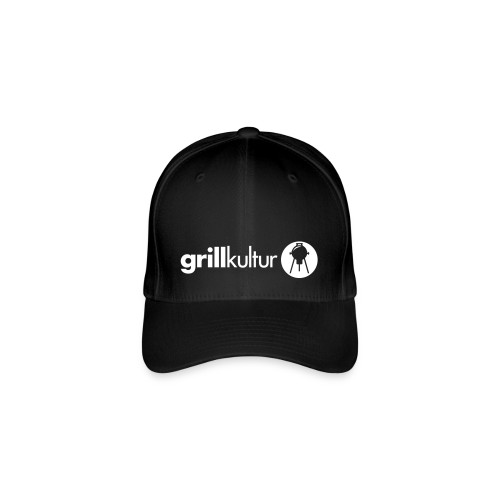 flexfit baseball-cap grillkultur v2 (1c) | baseball cp mit motiv zum thema grillen mit grillmotiv gestalten - Flexfit Baseballkappe