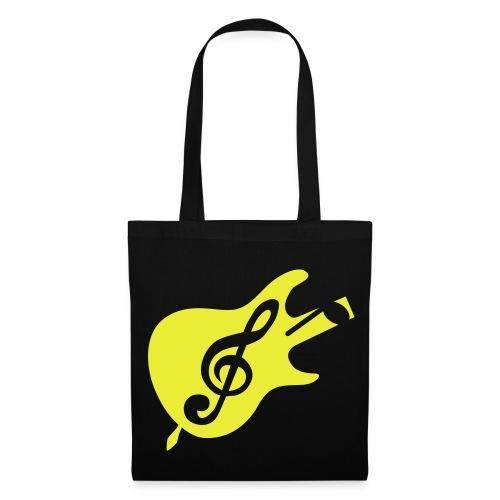 play guitar - Stoffbeutel