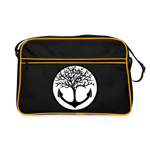 Retro Tasche / Motiv schwarz/weiß - Retro Tasche