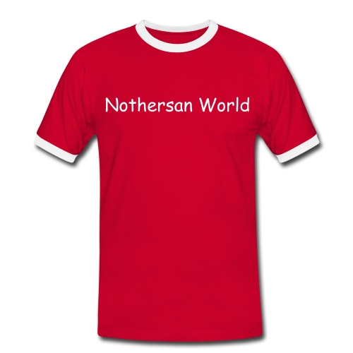 Nothersan World Men's Football T-Shirt - Men's Ringer Shirt