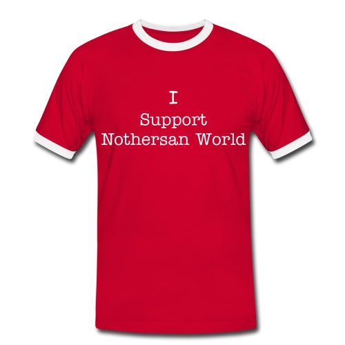 Nothersan World Men's Support Nothersanworld - Men's Ringer Shirt