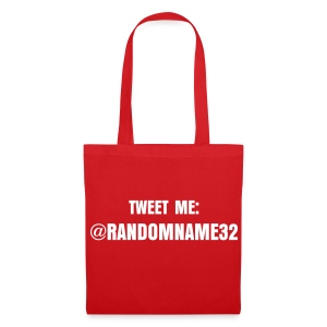 YOUR OWN TWITTER ADDRESS ON BAG - Tote Bag