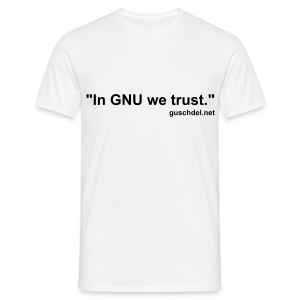 In GNU we trust., guschdel.net - Comfort-T - Men's T-Shirt