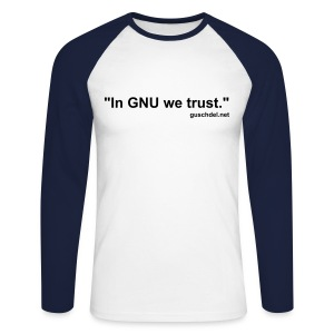 In GNU we trust., guschdel.net - Baseball-Longsleeve - Men's Long Sleeve Baseball T-Shirt