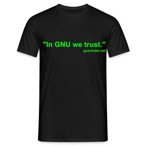 In GNU we trust., guschdel.net - Comfort-T black - Men's T-Shirt