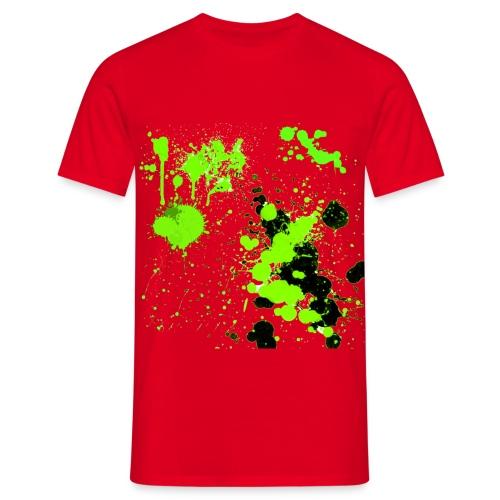 green splatter - Male - Men's T-Shirt