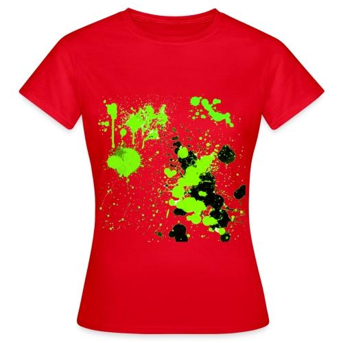 green splatter - Female - Women's T-Shirt